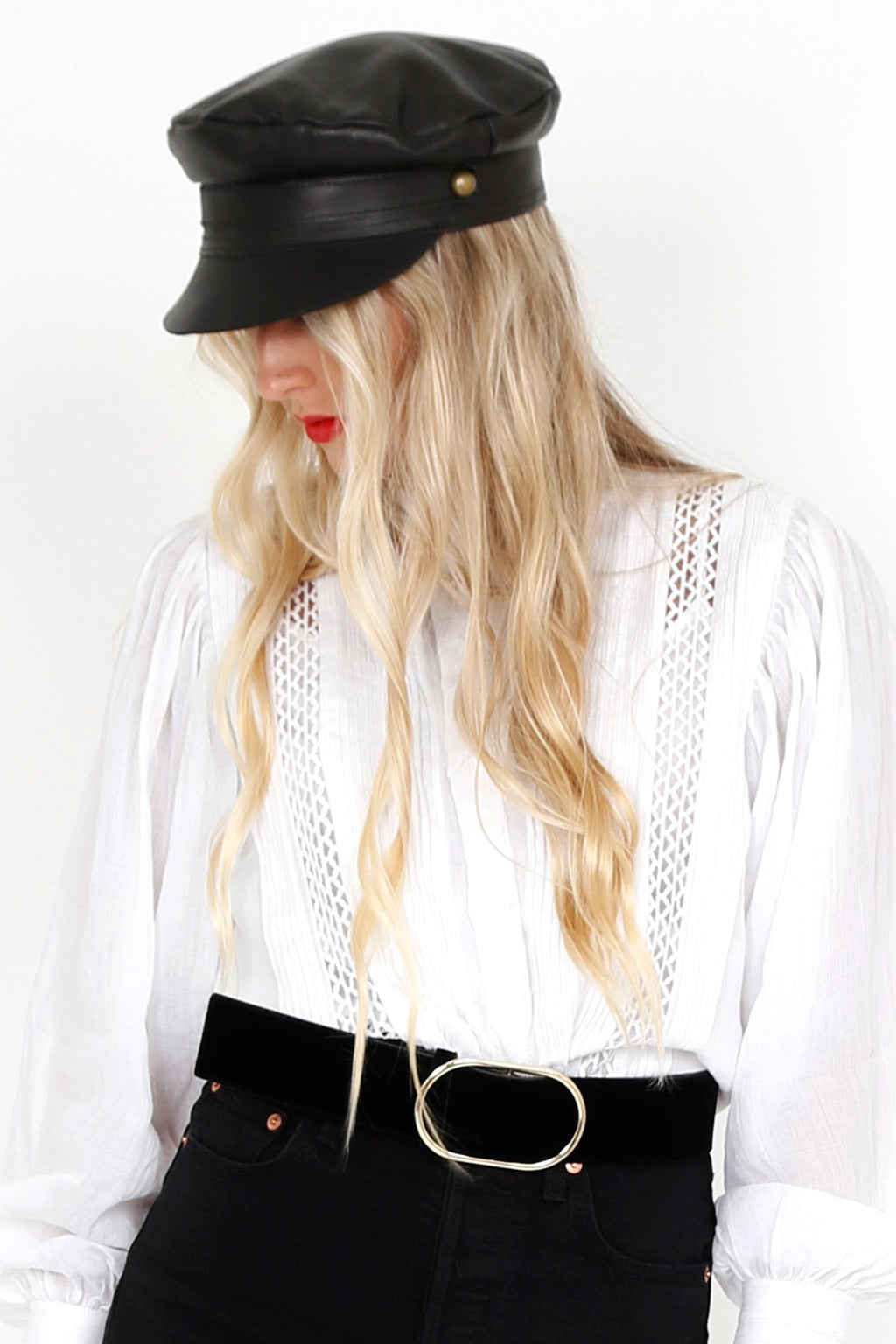 LACK OF COLOR | Lola Cap Black Leather