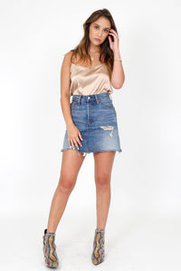 LEVI'S | High Rise Iconic BF Skirt - High Plains