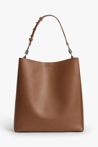 ALL SAINTS | Captain North South Tote - Chocolate Brown