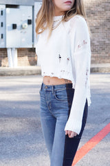 Downright Distressed Sweater - Ivory