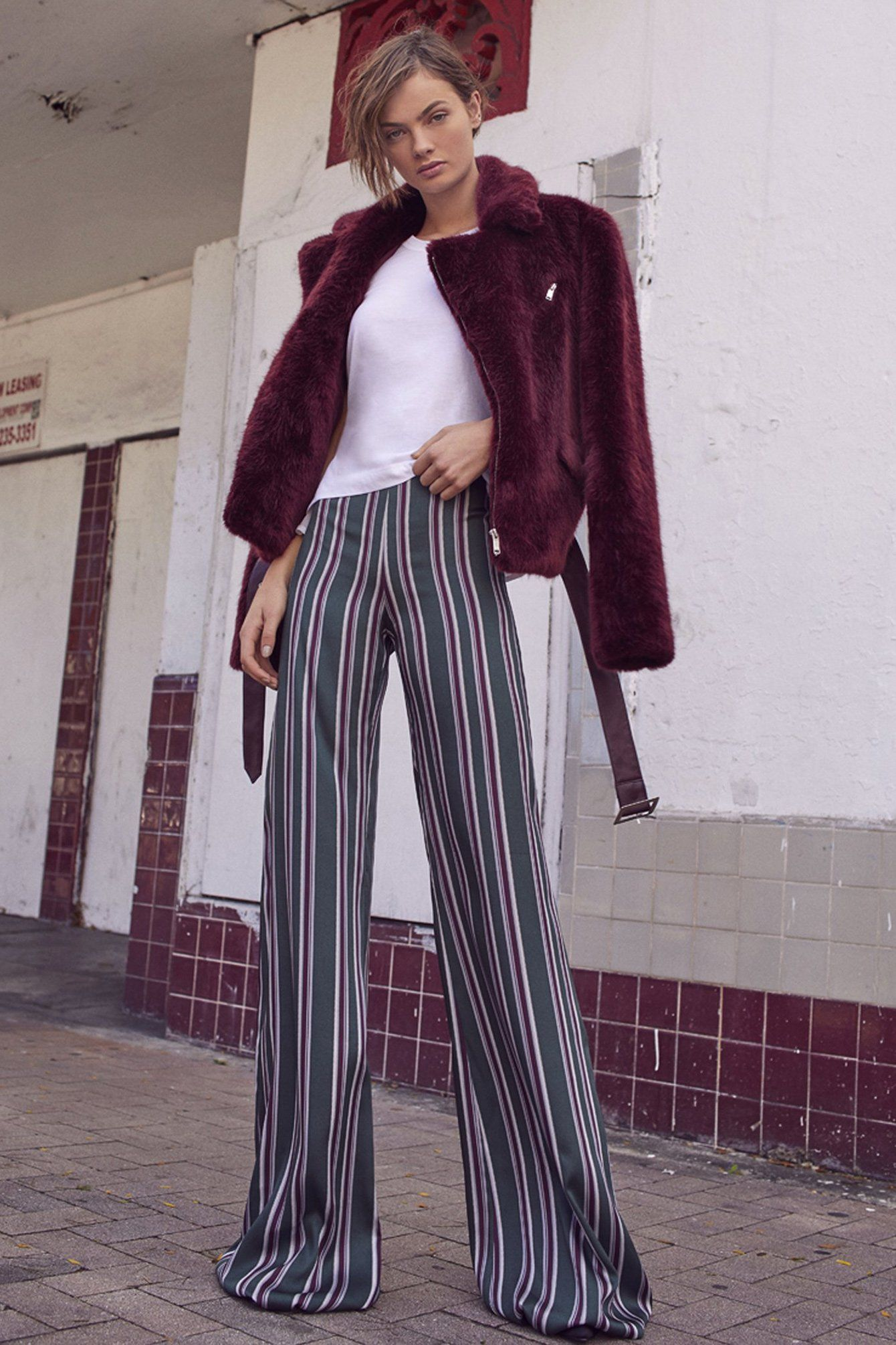 ALEXIS | Nieves Pant - Evergreen Stripes