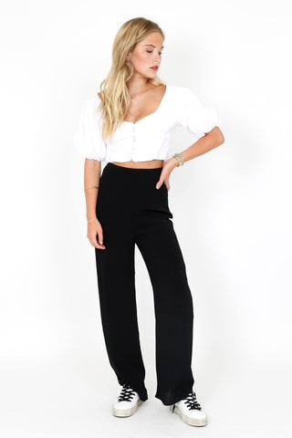 Lounge or Leave Pant - Black