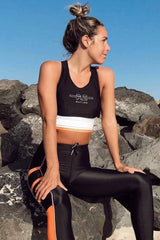 P.E NATION | Curb Crop Bra - Black