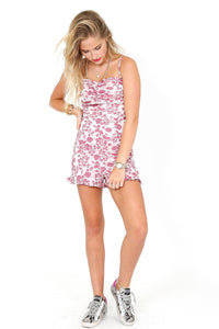 LIKELY | Hyland Romper - Pink Embroidery
