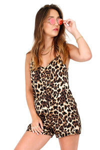 NATION LTD | Cara Lingerie Romper - Leopard