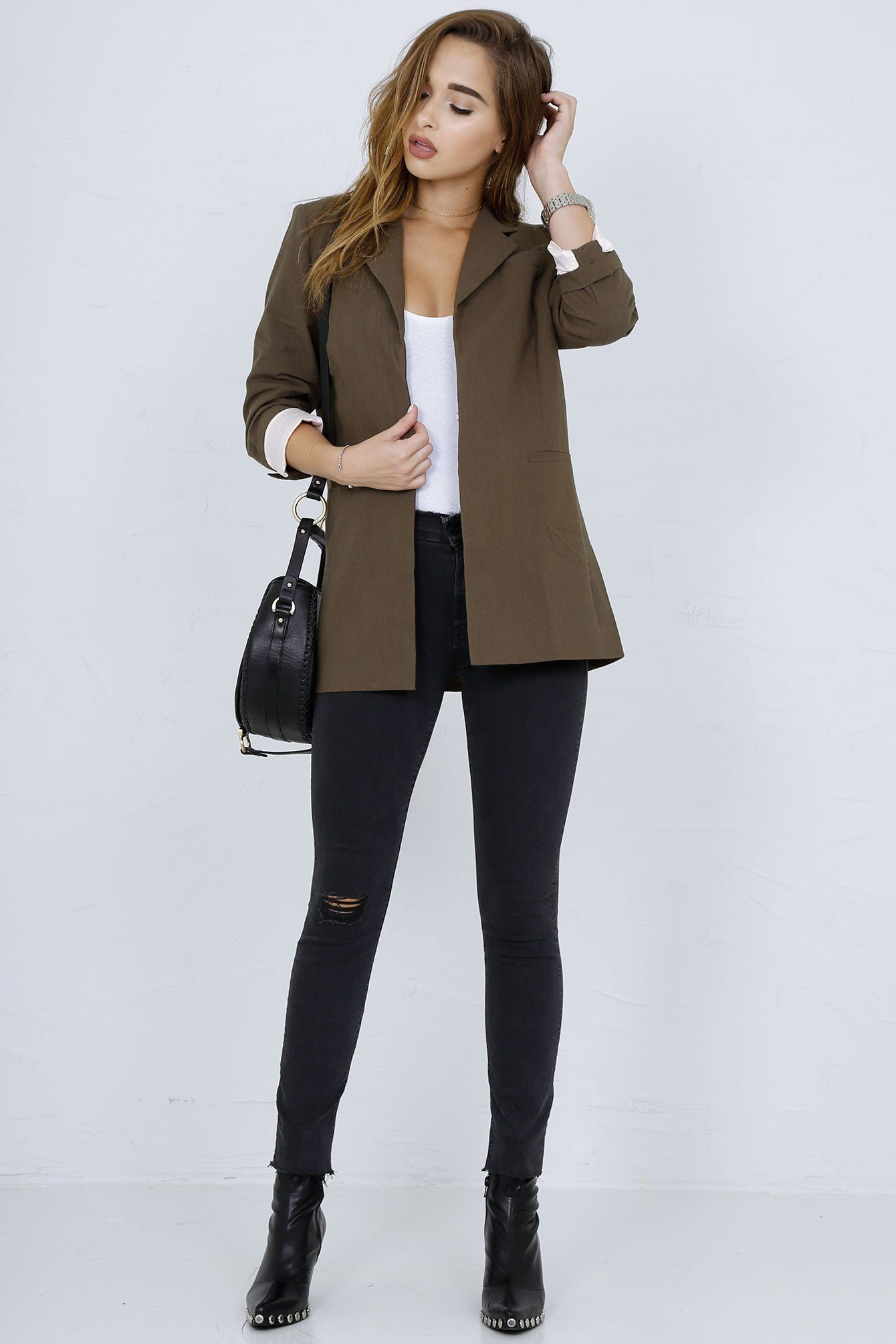 SCARLET | Perfect Blazer in Army - Scarlet Clothing  - 8