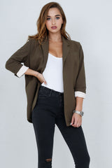 SCARLET | Perfect Blazer in Army - Scarlet Clothing  - 9