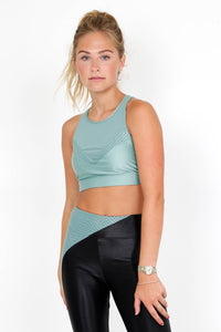 KORAL | Flash Energy Sports Bra - Aquamarine