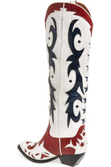 JEFFREY CAMPBELL | Starwood Western Boot - Red White + Blue