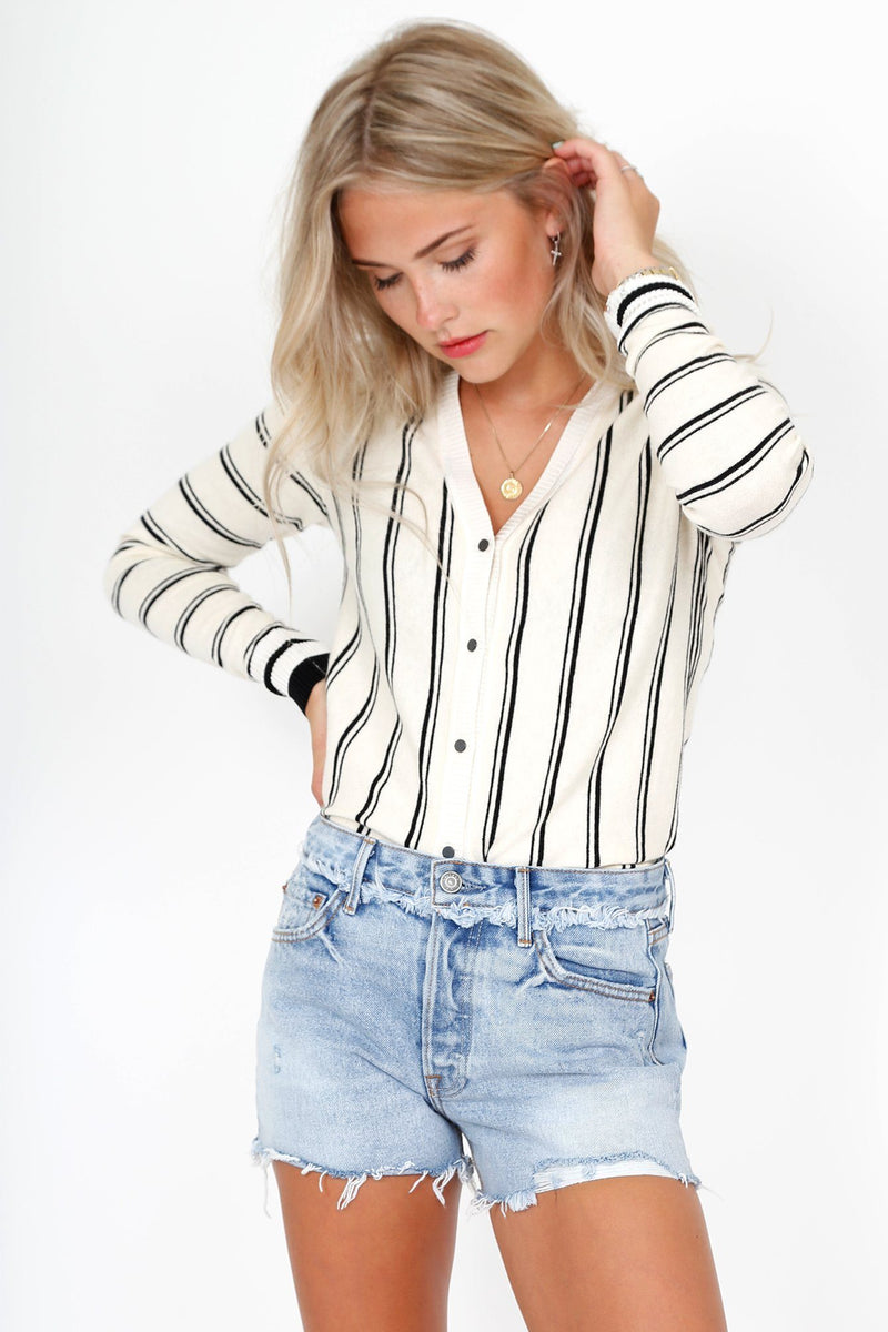 SCOTCH & SODA | Basic V-Cardi - Stripe