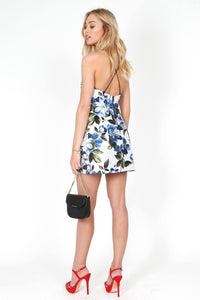 ALICE + OLIVIA | Tayla Floral Lantern Mini Dress