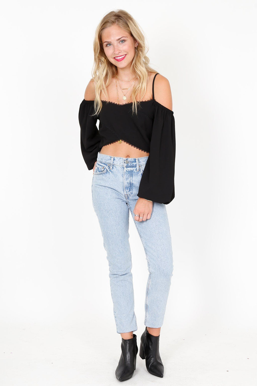THE JETSET DIARIES | Light My Fire Top - Black