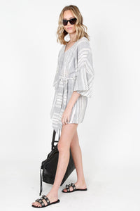 THE JETSET DIARIES | Wild World Kaftan - Blue + Ivory Stripe