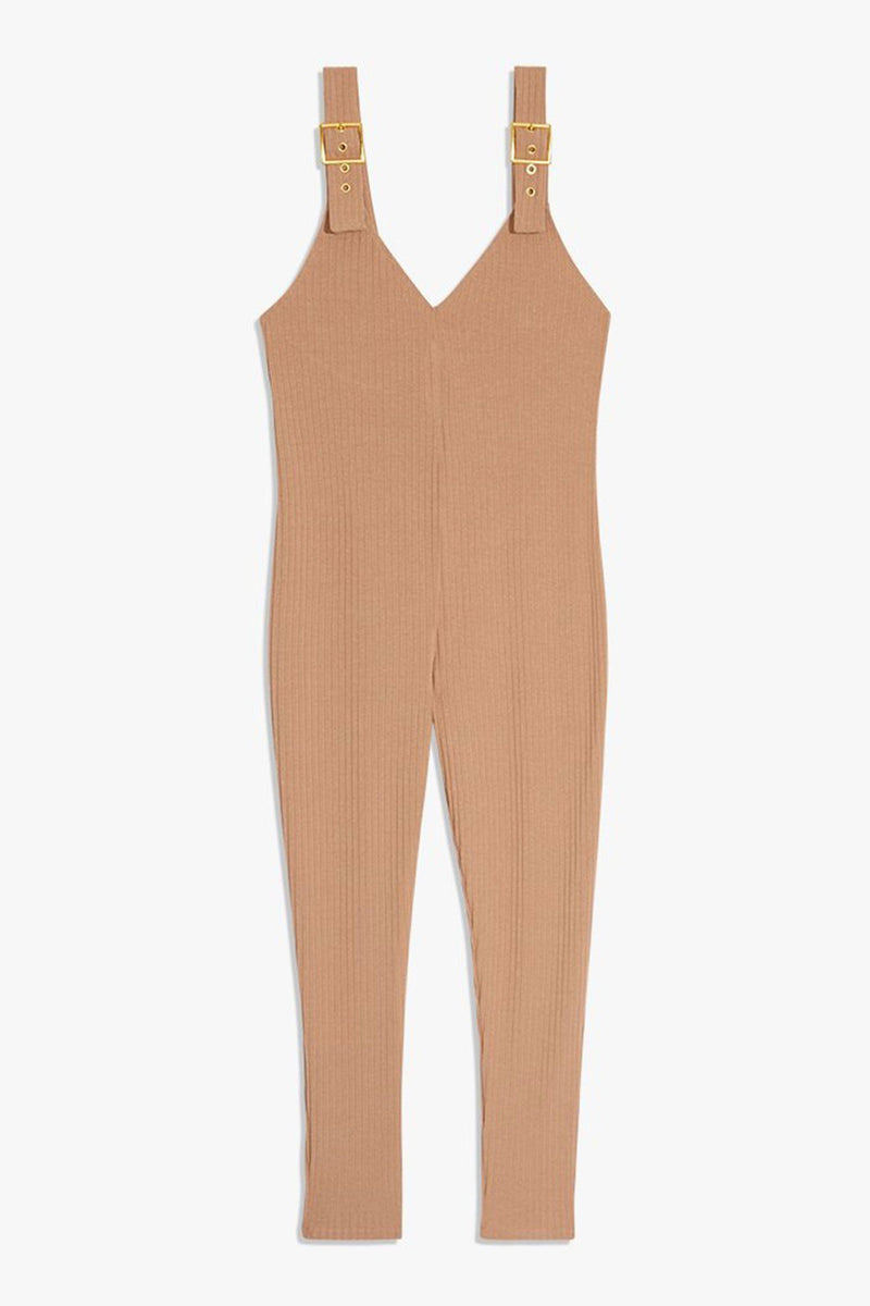 WE WORE WHAT | Knit Jumpsuit - Cameo Rose