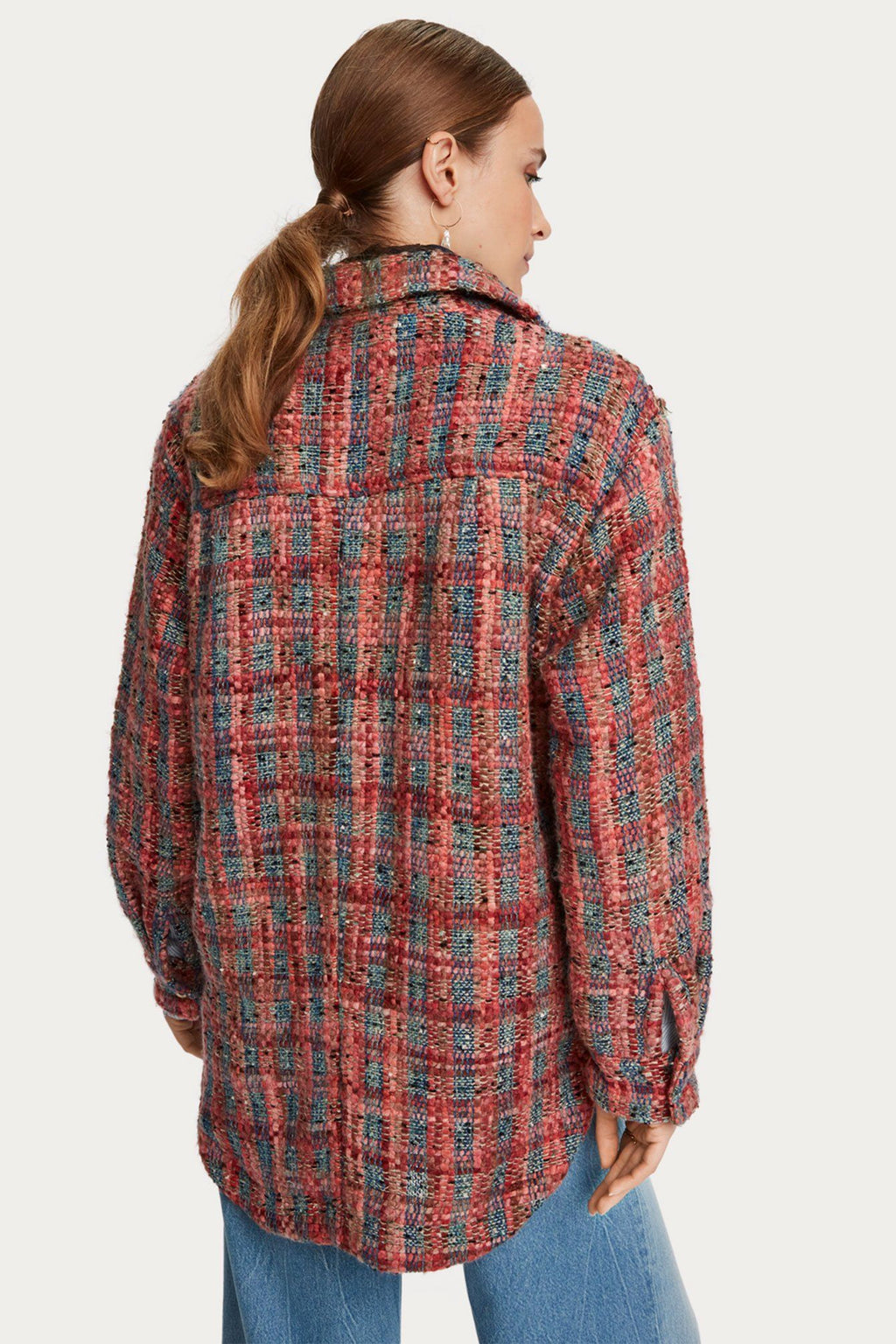 SCOTCH & SODA | Pink Tweed Shirt Jacket
