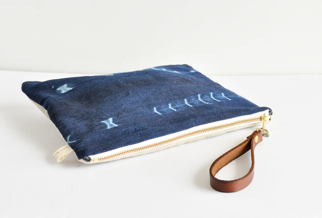 Indigo Boho Clutch - Small World Dreams