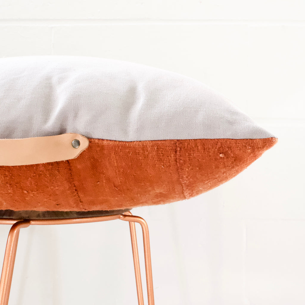 Rust Mudcloth Floor Cushion - Small World Dreams