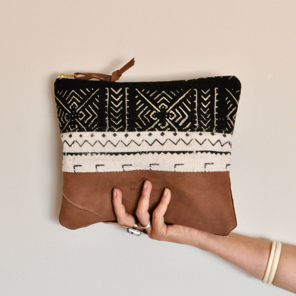 Large Mudcloth Clutch 02 - Small World Dreams