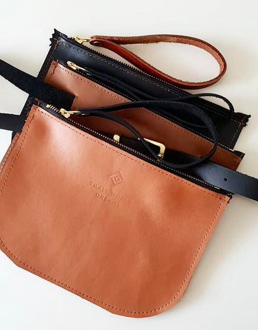 Leather Hip Bag - Small World Dreams