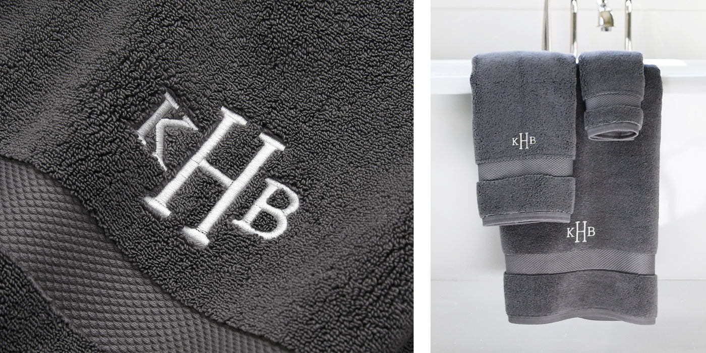 custom embroidery bath towels