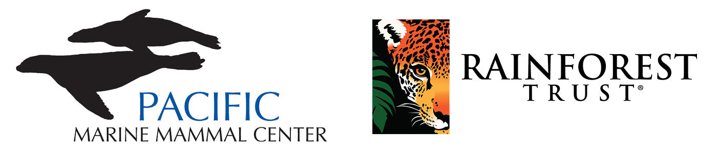 Pacific Marine Mammal Center and Rainforest Trust Logos