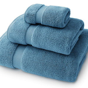 Seal Blue Towel Set - Bath Towel, Hand Towel, and Wash Cloth