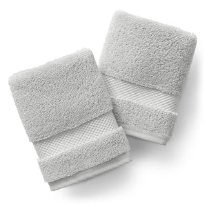 Cloud Gray Washcloth Set