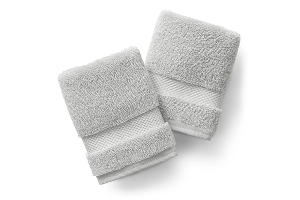 Cloud Gray Washcloth Set 1