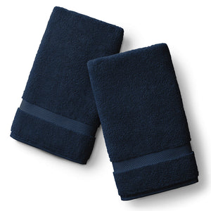 Navy Blue Hand Towel Set