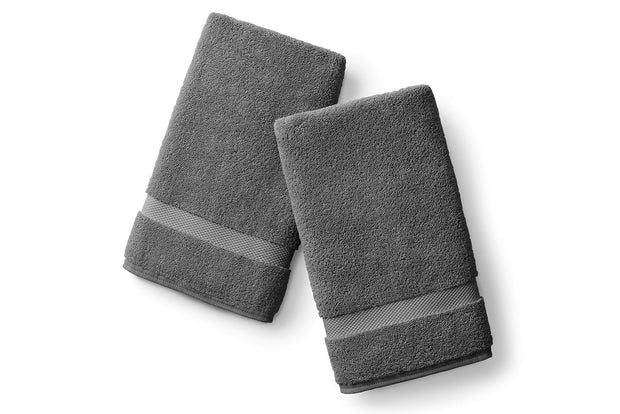 Pewter Gray Hand Towel Set 1