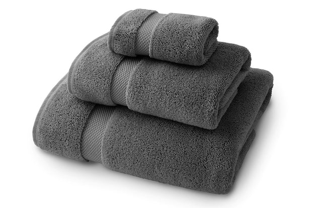 Pewter Bath Towel Set - Bath Towel, Hand Towel, and Wash Cloth 1