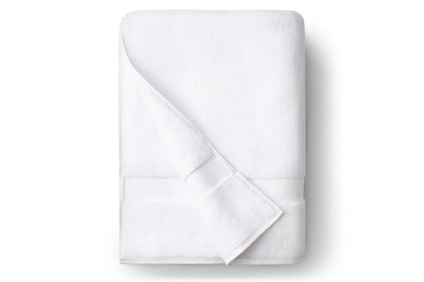 White Single Bath Towel