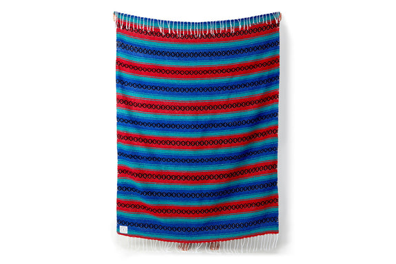 Ruby Azure Mexican Blanket