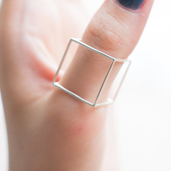 Cube Ring-Thin - Alminty3D