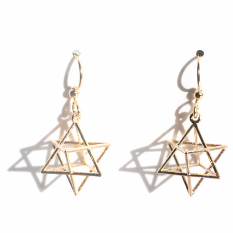Stellaed Octahedron Earrings - Alminty3D