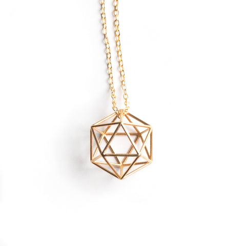 Icosahedron Necklace - Medium - Alminty3D