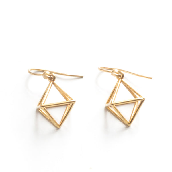 Octahedron Earrings - Alminty3D