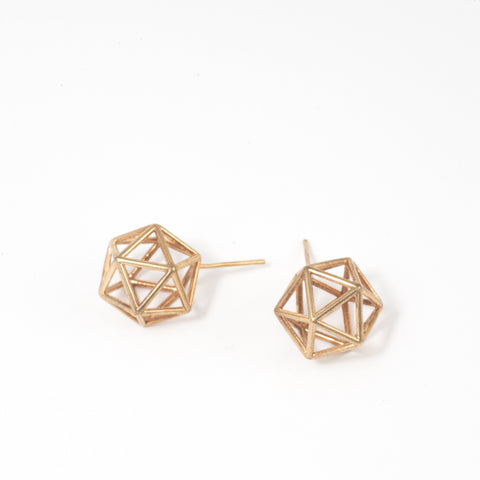 Icosahedron Studs - Alminty3D