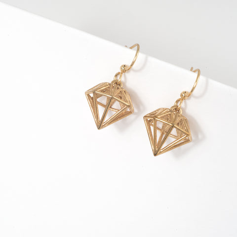 Diamond Earrings - Alminty3D