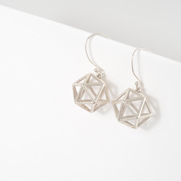 Icosahedron Earrings - Alminty3D