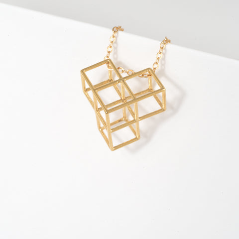 Tetris Necklace -1-Thin - Alminty3D