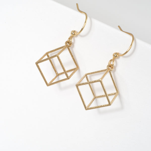 Cube Earrings - Alminty3D