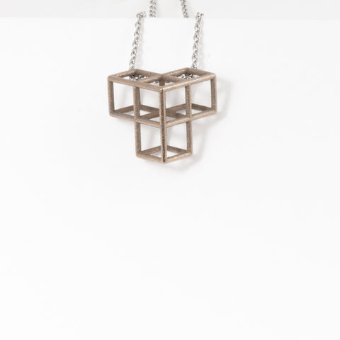 Tetris Necklace -1-Thick - Alminty3D