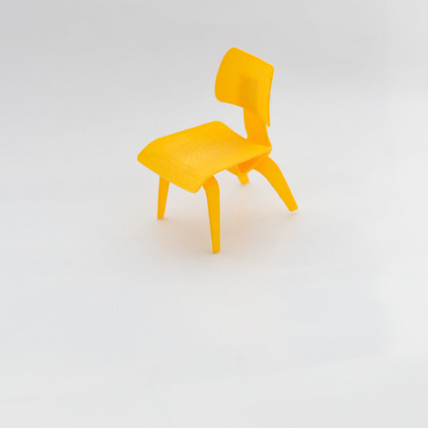 Designer Chair Miniature - Eames Molded Plywood Chair - Alminty3D