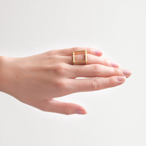 Cube Ring-Thick - Alminty3D