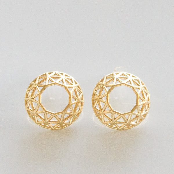 Brilliant Cut Diamond Studs - Alminty3D