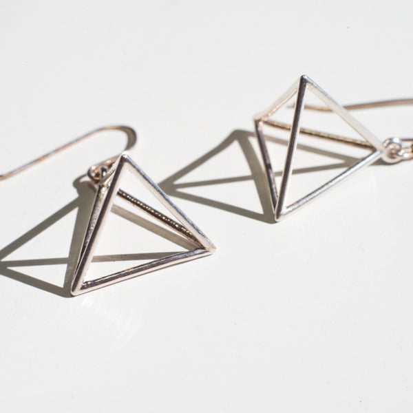 Tetrahedron Earrings - Alminty3D