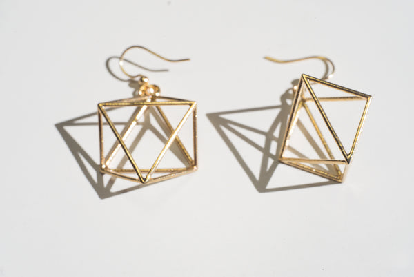 Octahedron Hexagram Earrings - Alminty3D