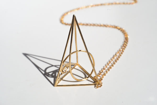 Golden Spiral Necklace - Alminty3D