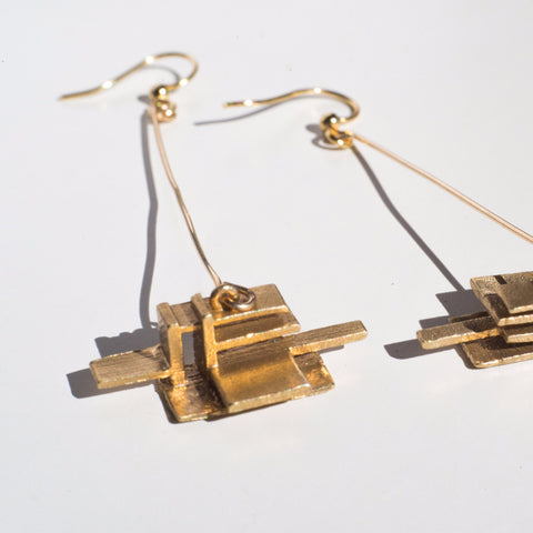 Falling Water Earrings - Alminty3D